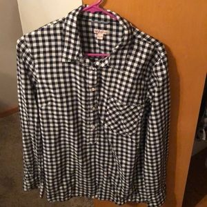 Merona Black & White checkered top